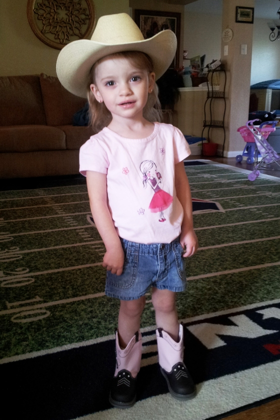 Faith, our little cowgirl